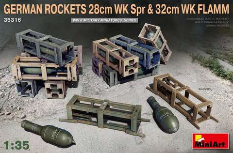 German Rockets 28cm WK Spr & 32cm WK Flamm  1/35