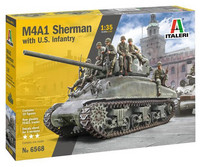 M4A1 Sherman with U.S. Infantry (10 Figures)  1/35