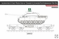 Jagdpanther G1 with Zimmerit & Schwerer Plattformwagen SSym  1/35