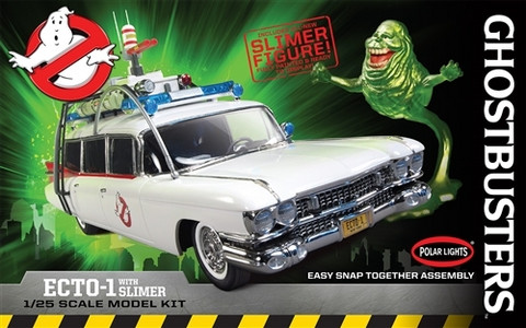Ghostbusters Ecto-1 Car with Slimer  1/25