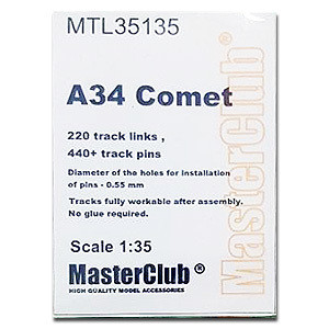 Metal Tracks for A34 Comet  1/35