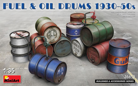 Fuel & Oil Drums 1930-50s  1/35