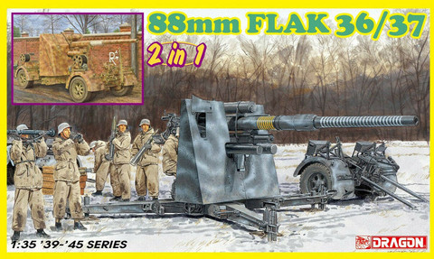 8.8cm FlaK 36/37 (2 in 1) & Crew (Updated kit, new parts)  1/35