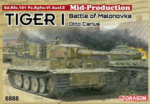 Tiger I Middle Production, Otto Carius, Battle of Malonovka  1/35