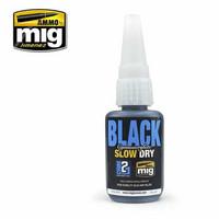 Black Cyanoacrylate Glue (Slow Dry)