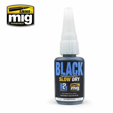 Black Cyanoacrylate Glue (Slow Dry)