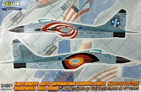 MiG-29 9-12 Late, Luftwaffe JG73, Operation Sniper 2003  1/48