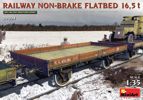 Railway Non-Brake Flatbed 16.5 ton  1/35
