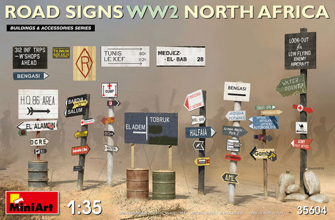 Road Signs North Africa (WWII)  1/35