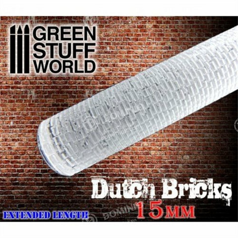 Rolling Pin, 15mm Dutch Bricks