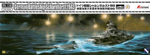 German Battleship Scharnhorst 1943  1/700
