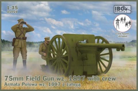 75mm Field Gun wz.1897 with Polish Artillerymen  1/35
