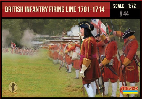 British Infantry Firing Line 1701-1714  1/72