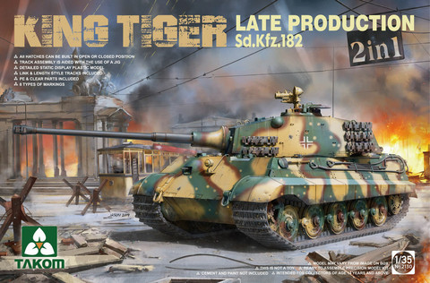 King Tiger SdKfz 182 Late production (2in1)  1/35