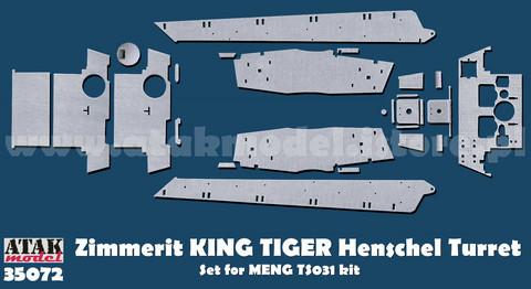 Zimmerit Tiger II Henschel (MENG)