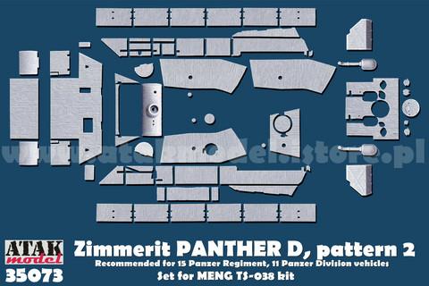 Zimmerit Panther D (MENG) pattern #2