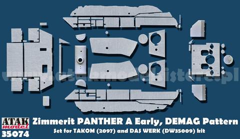 Zimmerit Panther A (Takom + Das Werk) DEMAG Pattern