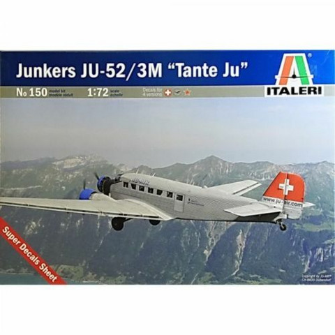 """Junkers Ju-52 3/m """"Tante Ju"""" inc. Super Decals Sheet  1/72"""