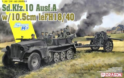 SdKfz 10 Ausf.A with 10.5cm leFH18/40  1/35