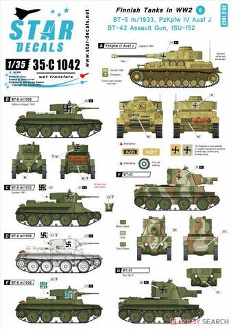 Finnish Tanks inWWII #6 BT-5, BT-42, PzKpfw IV, ISU-152   1/35