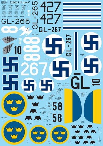 Gloster Gladiator Mk.I & Mk.II Decals Finnish Air Force  1/32