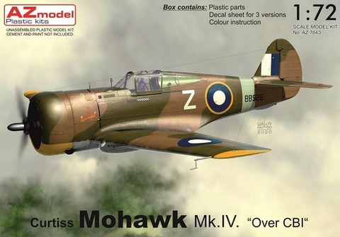 "Curtiss Mohawk Mk.IV ""Over CBI""  1/72"