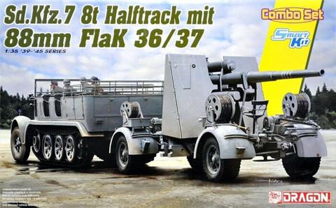 SdKfz 7 8t & 8.8cm FlaK 36/37 (Smart Kit)  1/35
