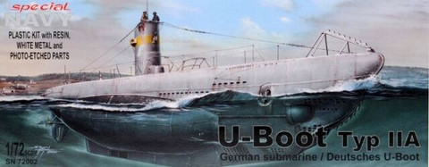 German U-Boot Typ IIA  1/72