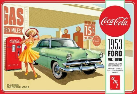 1953 Ford Victoria Hardtop with Coca Cola Vending Machine  1/25