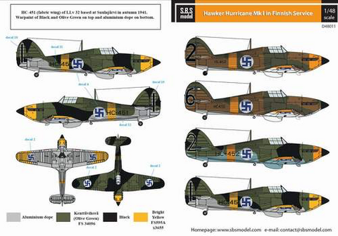 Hawker Hurricane Mk.I Finnish Air Force  1/48