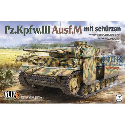PzKpfw III Ausf. M with Schürzen  1/35 (Blitz Series)