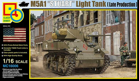 M5A1 Stuart US Light Tank (Late Production)  1/16