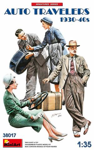 Auto Travelers 1930-1940s  1/35