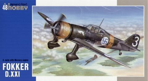 Fokker D.XXI 3 sarja with Mercury Engine  1/48