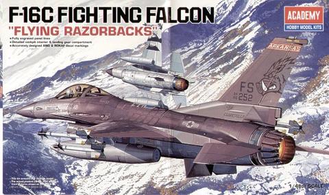 """Lockheed-Martin F-16C Fighting Falcons """"Flying Razorbacks""""  1/48"""