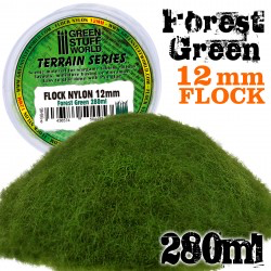 Static Grass Flock 12mm Forest Green  280ml