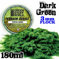 Static Grass Flock Dark Green 3mm  180ml