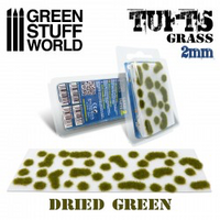 Grass Tufts 2mm Self Adhesive  Dry Green
