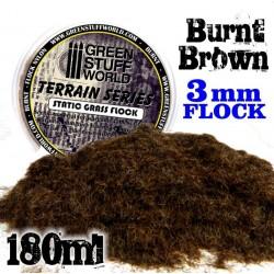 Static Grass Flock 3mm Burnt Brown  180ml