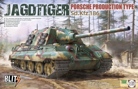SdKfz 186 Jagdtiger Porsche Production  (Blitz Series)  1/35