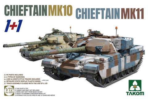 Chieftain Mk.10 & Mk.11 (1+1 Two kits combo)  1/72