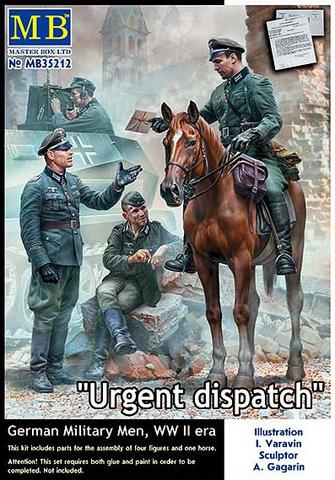 Urgent Dispatch German Troops WW II 1/35