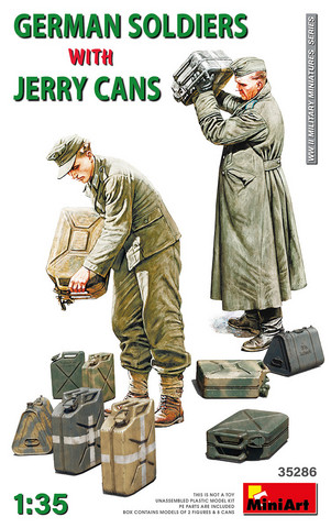German Soldiers with Jerry Cans	1/35