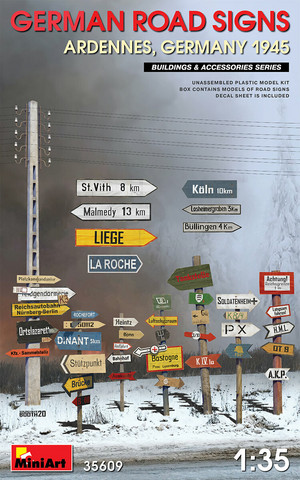 German Road Signs ww2 (Ardennes & Germany 1945)  1/35
