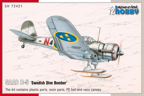 SAAB B-5 Swedish Dive Bomber  1/72