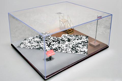 Sand Table Akryylivitriini 316x276x136mm