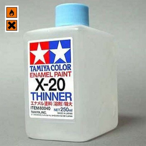 X-20 Enamel Thinner (250ml) (Sinikorkkinen ohenne)