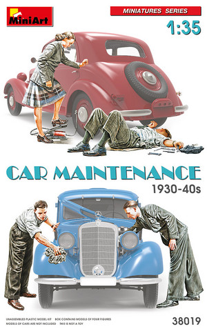 Car Maintenance 1930-40s  1/35