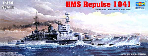 HMS Repulse 1941  1/350