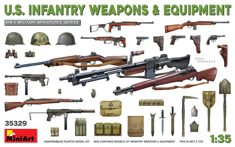 US Infantry Weapons & Equipment  1/35